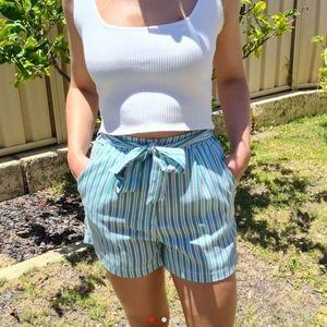 Candy stripe green shorts